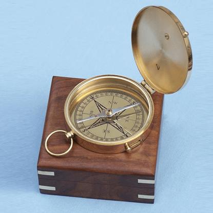 Admirals Brass Sundial Compass
