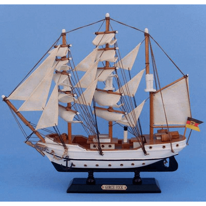 14 Inch Gorch Fock Model Ship