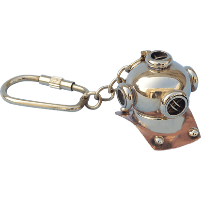 Diving Helmet Keychain