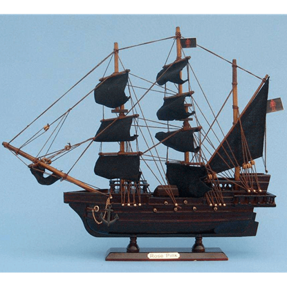 Ed Lows Rose Pink Pirate Ship Model