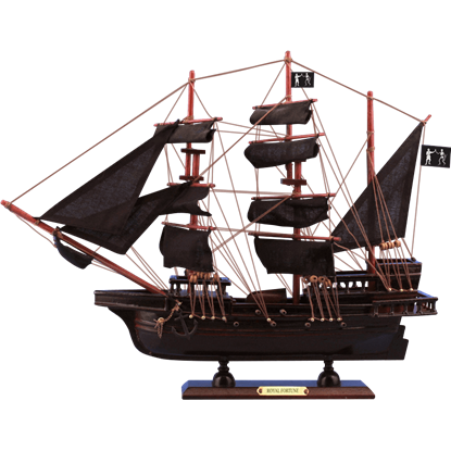 Black Barts Royal Fortune Model Ship
