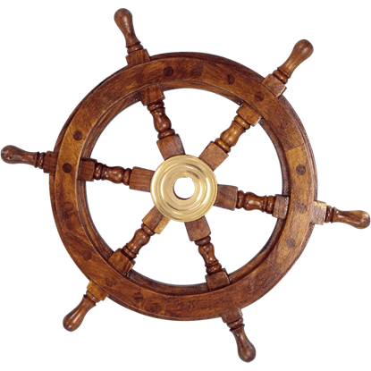 Wooden 12-Inch Ship Wheel