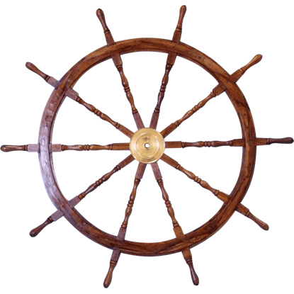 Wooden 60-Inch Ship Wheel