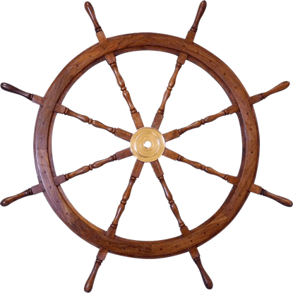Wooden 48-Inch Ship Wheel