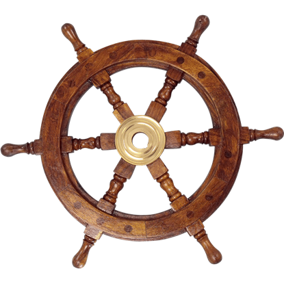 Wooden 24-Inch Ship Wheel