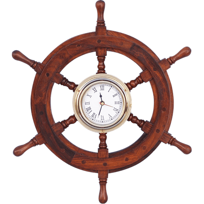 12-Inch Ship Wheel Clock