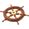 Wooden 15-Inch Ship Wheel
