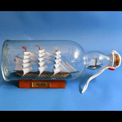 HMS Victory Ship in a Bottle