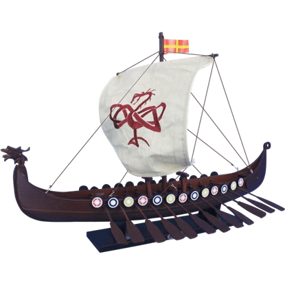 24-Inch Drakkar Viking Longship Model