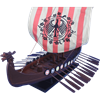 24-Inch Drakkar Viking Longship Model