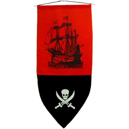 Pirate Banner Creepy Skull
