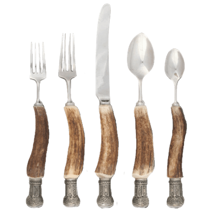 5 Piece Antler Flatware