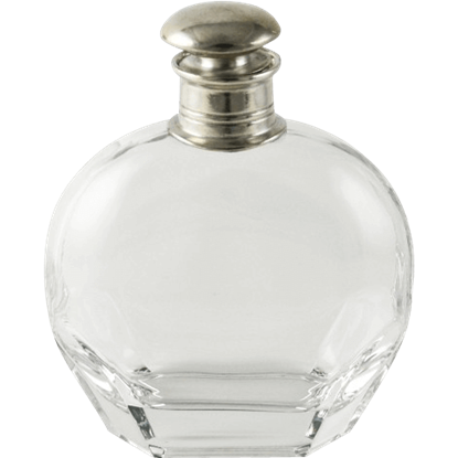 Classic Pewter Top Wide Decanter