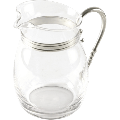 Classic Curved Glass Pitcher