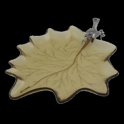 Harvest Leaf Glass Tray