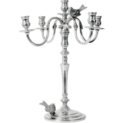 Five Taper Songbird Candelabrum