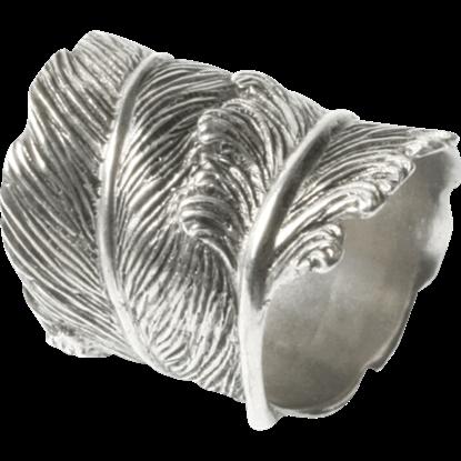 Pewter Feather Napkin Ring