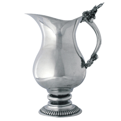 Acorn and Oak Leaf Pewter Pitcher