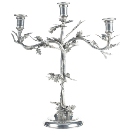 Acorn and Oak Leaf Candelabrum