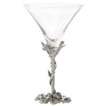 Acorn and Oak Leaf Cocktail Glass