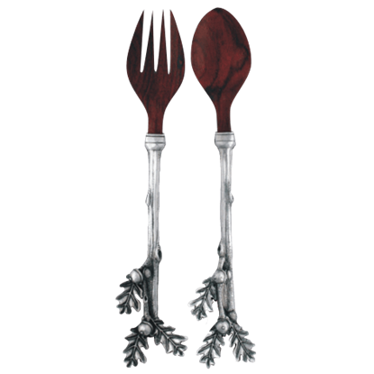 Acorn and Oak Leaf Salad Servers