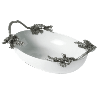 Acorn and Oak Leaf Serving Dish