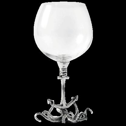 Octopus Burgundy Glass