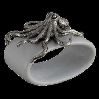 Octopus Stoneware Napkin Ring