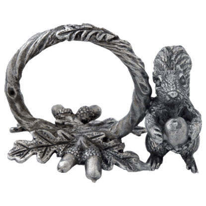 Pewter Squirrel Napkin Ring