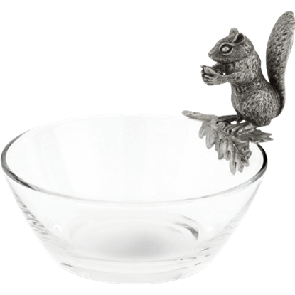 Glass Squirrel Nut Bowl