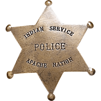 Apache Nation Police Badge