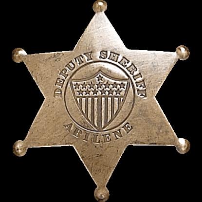 Abilene Deputy Sheriff Badge