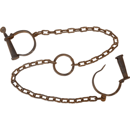 Antiqued Dungeon Leg Cuffs