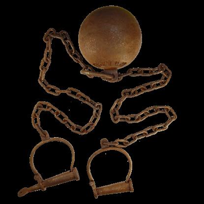 Leavenworth Prison Iron Ball and Chain