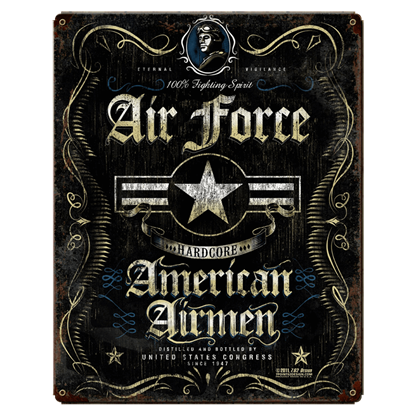 Air Force Fighting Spirit Vintage Steel Sign