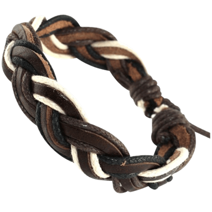 Norse Multi-Color Braided Leather Bracelet