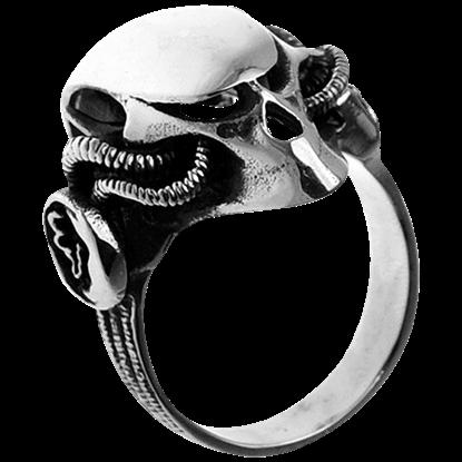 Mecha Skull Helmet Ring