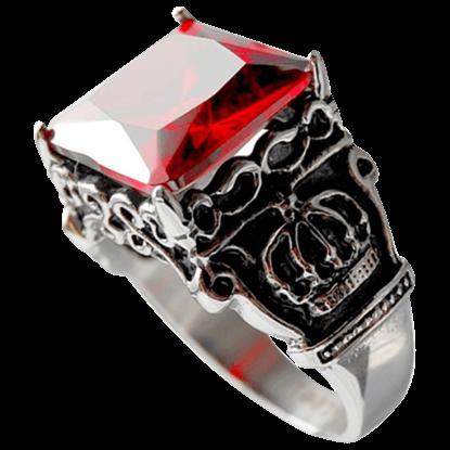Royal Crown Ruby Signet Ring