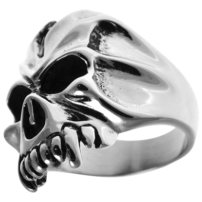Cracked Vampire Skull Ring