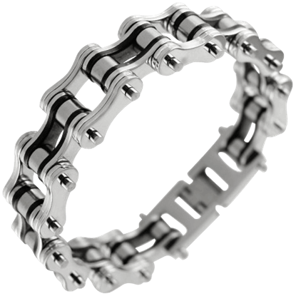 Black Interplate Chain Link Bracelet