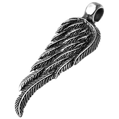 Antiqued Angel Wing Pendant