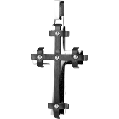 Black and Silver Riveted Gothic Cross