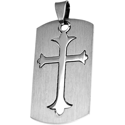 Two-Part Gothic Cross Dog Tag