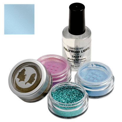 Caribbean Blue Hollywood Lights Shimmer Powder Makeup