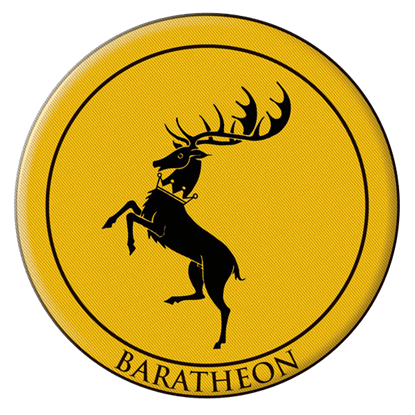 Game Of Thrones Baratheon Embroidered Patch