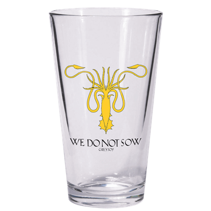 Game of Thrones Greyjoy Sigil Pint Glass