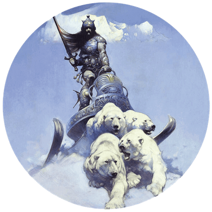 Silver Warrior Frazetta Magnet