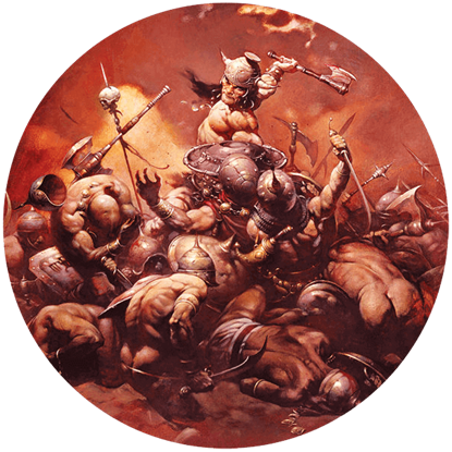Destroyer Frazetta Magnet