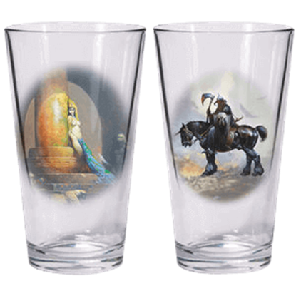 Death Dealer And Egyptian Queen Glass Set