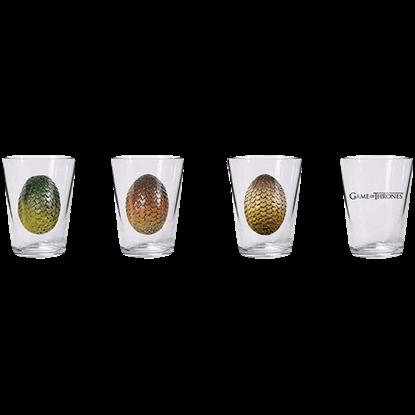 Game of Thrones Dragon Egg Shot Glass Set